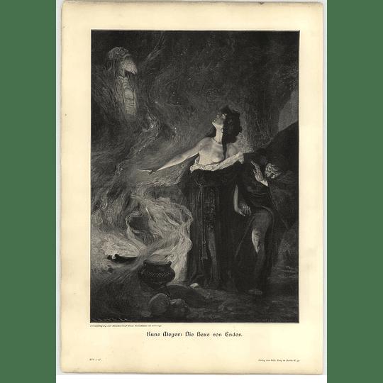 1902 Kunz Meyer ~ The Witch Of Endor Artwork