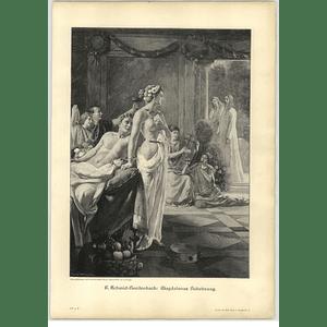 1902 F Schmidt-breifenbach ~ Magdelen's Call Artwork