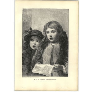 1902 Wc Dobson ~ Christmas Carol Artwork