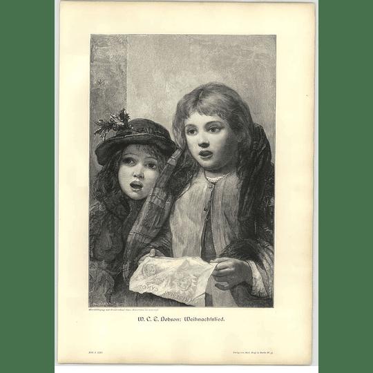 1902 Wc Dobson ~ Christmas Carol Artwork