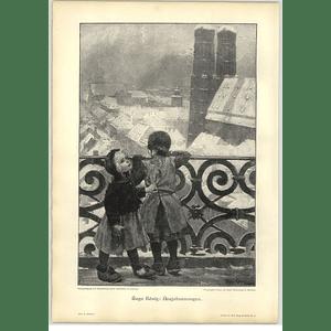 1902 Hugo Konig ~ New Year's Morning Artwork