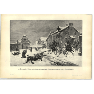 1902 J Correggio ~ Prussian Dragoon Patrol Encounter Artwork