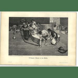 1902 F Vasarri ~ Samson At The Mill Artwork