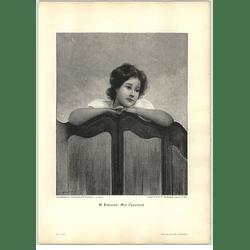 1902 G Fremiet ~ At The Screen Artwork