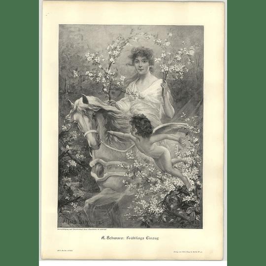 1902 A Schwarz ~ Springtime Artwork