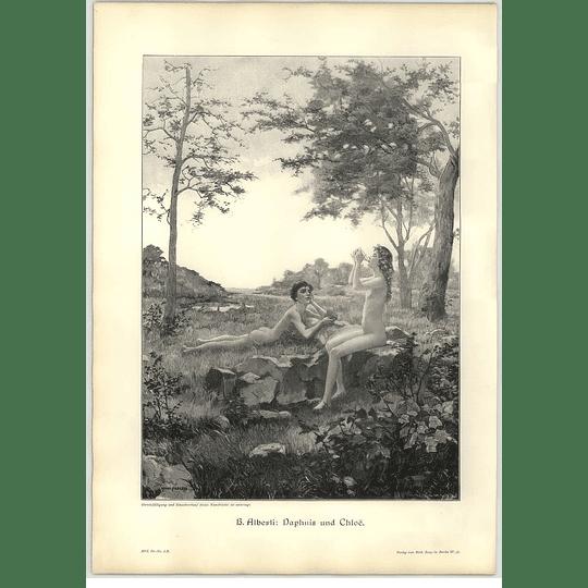 1902 H Alberti ~ Daphnis And Chloe Artwork