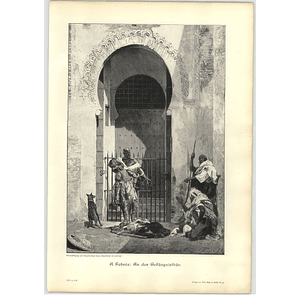 1902 A Fabres ~ At The Prison Gate Artwork