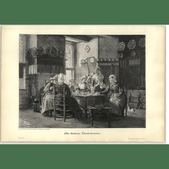 1902 Otto Kirkberg ~ The Tea Circle Artwork