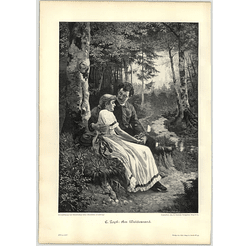 1902 E Zopf ~ On The Edge Of The Forest Artwork