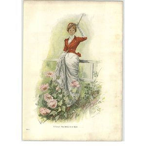 1902 E Cucuel ~ My Treasure Is A Horseman Artwork