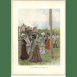 1902 E Cucuel ~ Archery Practice Hanging Target Artwork