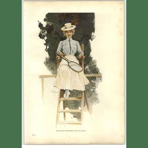 1902 Ewald Thiel ~ The Lawn Tennis Artwork