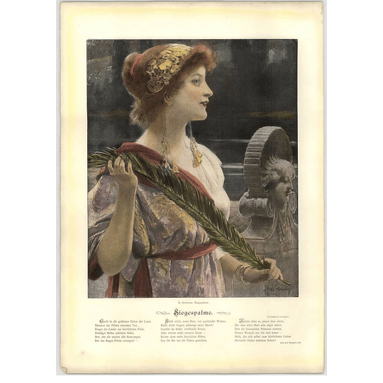1902 A Schram ~ Victory Palm Artwork