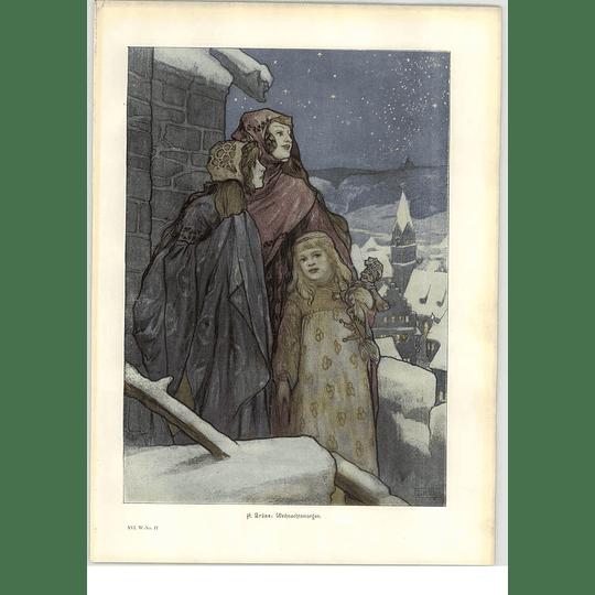 1902 H Brune ~ Christmas Morning Artwork
