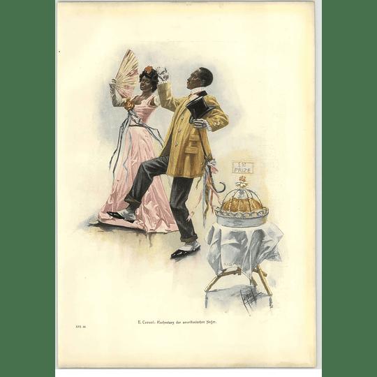 1902 E Cucuel ~ American Negro Cakewalk Artwork