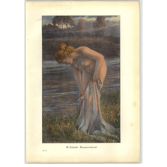 1902 G Cairati ~ Summer Evening Artwork