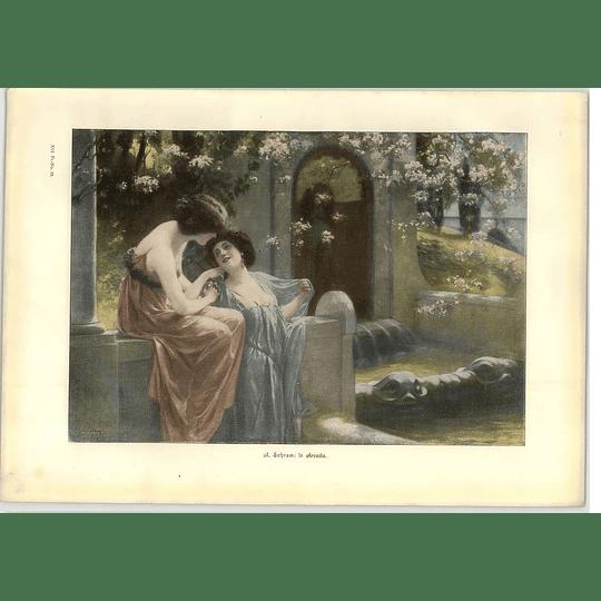 1902 A Schram ~ In Arcadia Artwork