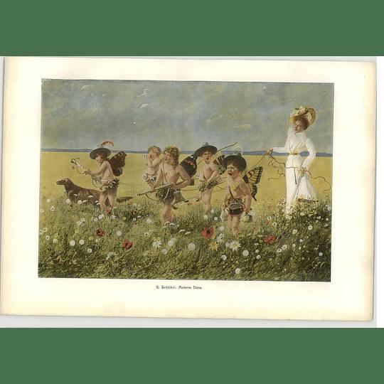 1902 G Schobel ~ A Modern Diana Artwork