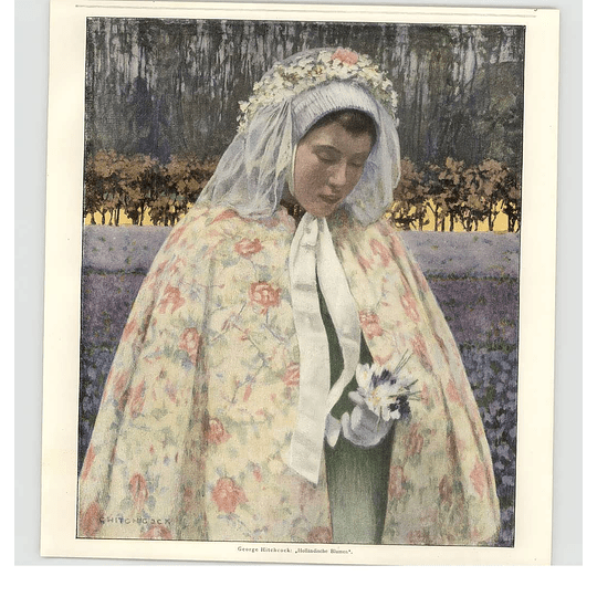 1902 George Hitchcock ~ A Flower Of Holland Artwork