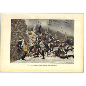 1902 C Rochling ~ Third Batallion Regiment Leuthen 1757 Artwork