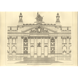 1894 The Imperial Parliament Houses, Berlin, Principal Front, Wallot