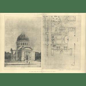 1905 Us Academy Annapolis, Ernest Flagg Architect, Plan, Chapel