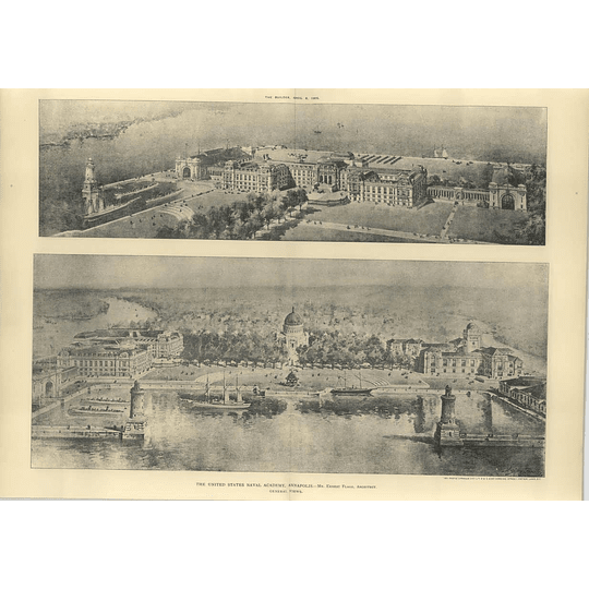 1905 Us Academy Annapolis, Ernest Flagg, Birds Eye Views