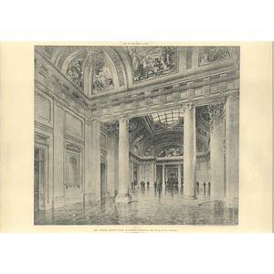 1905 Us Academy Annapolis, Ernest Flagg, Memorial Hall Interior
