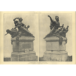 1905 Sculpture For Decoration Canal Bridge Saint Quentin, Theunissen
