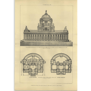 1906 Design For The Peace Palace In The Hague, Ht Hare Design And Plan