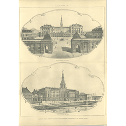1907 Selected Design The New Palace Of Christiansborg Copenhagen, Jorgensen