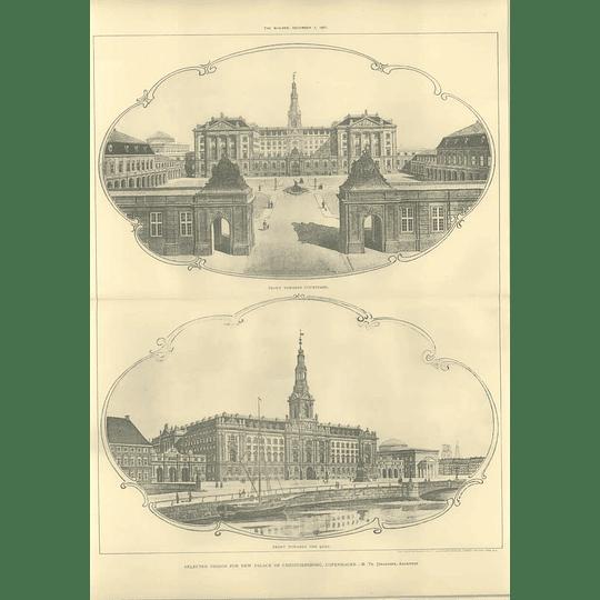 1907 Selected Design The New Palace Of Christiansborg Copenhagen, Jorgensen
