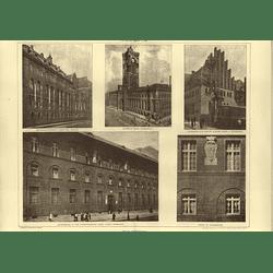 1907 Berlin Amtsgebaude In Lychenerstrasse, Hedwigskrankenhaus, Gymnasium