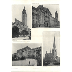 1907 Technical High School Charlottenburg, Rathhaus, Criminal Courts Turmstrasse