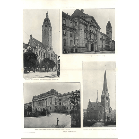1907 Technical High School Charlottenburg, Rathhaus, Criminal Courts Turmstrasse