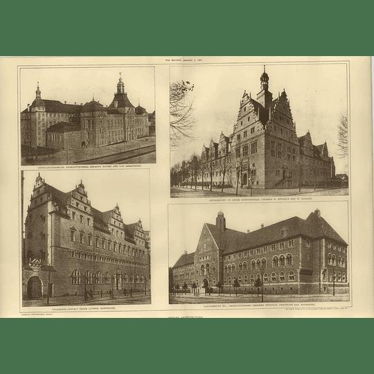 1907 Kings High School Charlottenburg,landgericht Iii,volksbade-anstalt