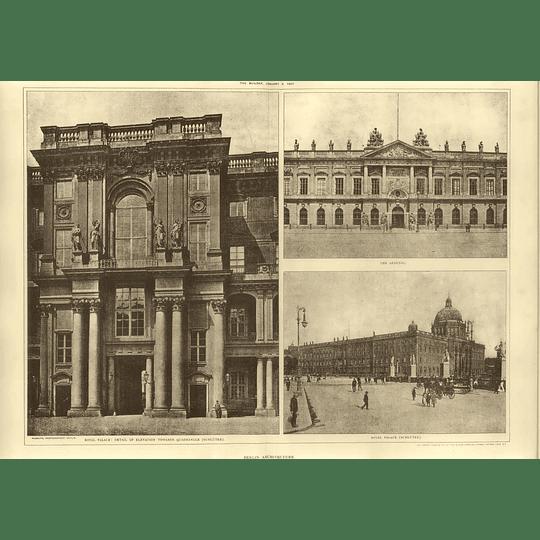 1907 Berlin Royal Palace, Arsenal, Detail Of Elevation Quadrangle