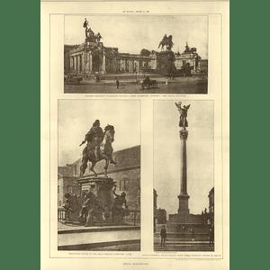 1907 Berlin Architecture, Equestrian Statue Great Elector, Peace Monument