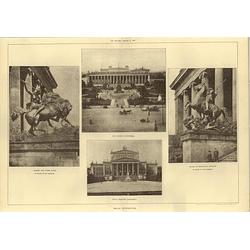 1907 Berlin Old Museum, Royal Theatre, Sculptures In Front Of Museum