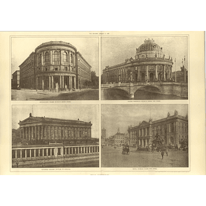 1907 Berlin Architecture, National Gallery, Royal Stables, Kaiser Friedrich Muse