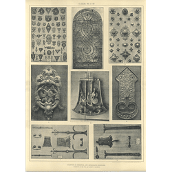 1907 Examples Of Mediaeval And Renaissance Ironwork, Fine Art Society