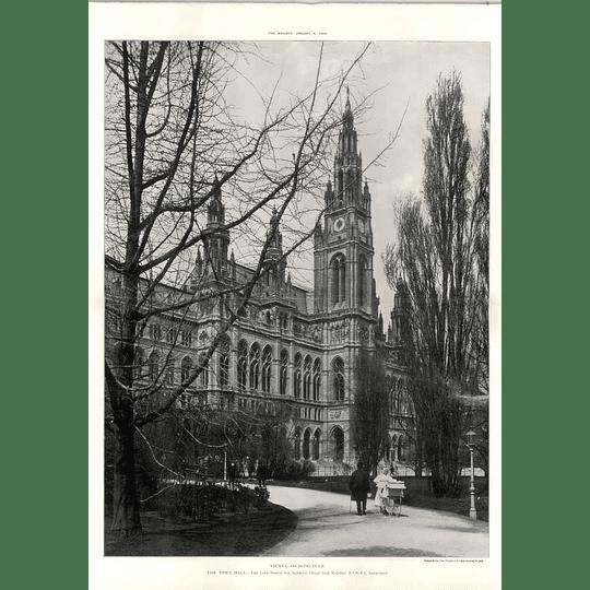 1908 Quiet Scene Outside The Town Hall In Vienna,von Schmidt