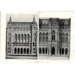 1908 Part Of Front Elevation, And Aside, Vienna Town Hall
