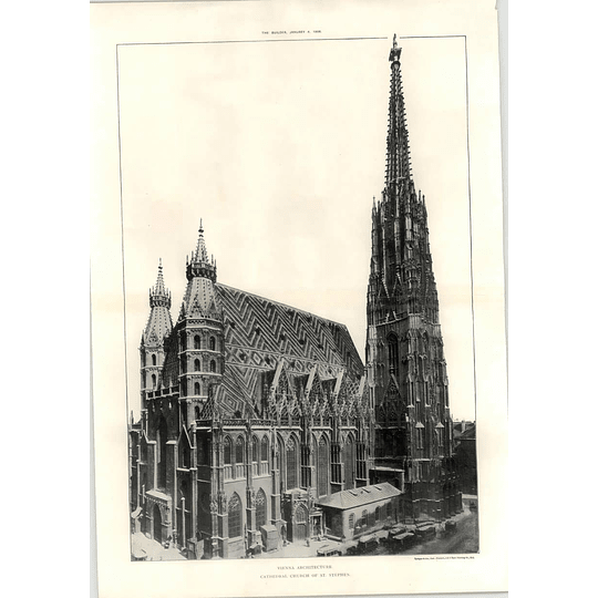 1908 The Cathedral Church Of St Stephen Vienna