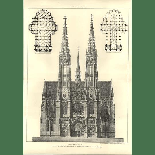 1908 The Votive Church Design And Plans, Vienna