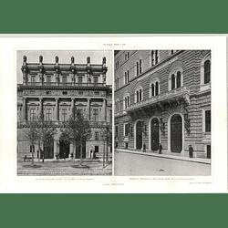 1908 Principal Entrance To Credit Bank, Archduke Williams Palace In Vienna