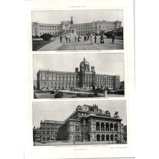 1908 Imperial Opera House, Art History Museum, New Wing Hofburg, Vienna