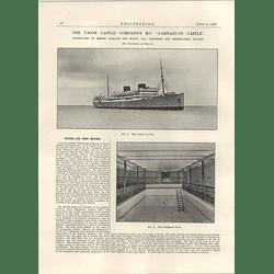 1926 The Union Castle Ms Carnarvon Castle, At Sea, Swimming Pond