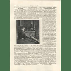 1926 Refinement Of Cast Iron By Shaking, Rostock, Joseph Dechesne