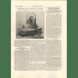 1926 High-speed Band Resawing Machine, John Pickles Hebden Bridge